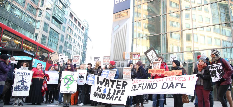 London banks targeted by Standing Rock SolidarityActions