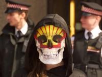22nd may 2012 protests at shell AGM at barbican