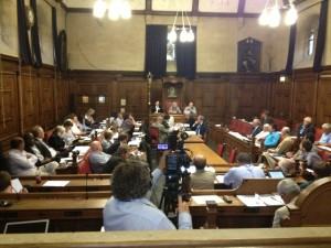 Council discussing the Tar-Free motion. Photo by James Atherton
