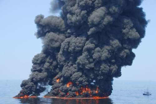 Deepwater Horizon Controlled Oil Burn by Petty Officer First Class John Masson