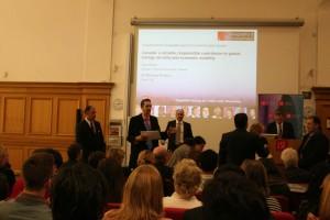 Liam Presenting the Green Wash Award to Joe Oliver